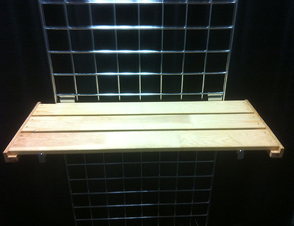 Item #109 - Grid Shelf Wood