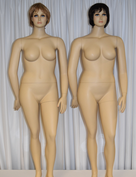 Item #209 - Women's Mannequin Plus Size - beige with hair