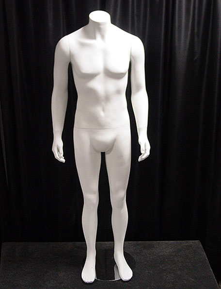Item #214 - Male Mannequin - white, no head