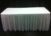 #400 Skirted/covered table